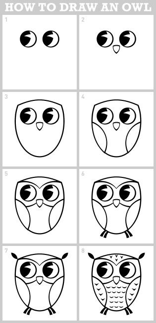 Dessiner Un Hibou Dessiner Drawings Easy Drawings Et Directed