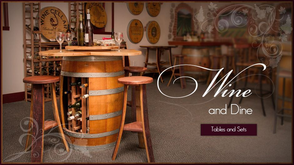 Wine Barrel Chair Diy. Wine Barrel Pub Table Fancy Wine Barrel Bar ...