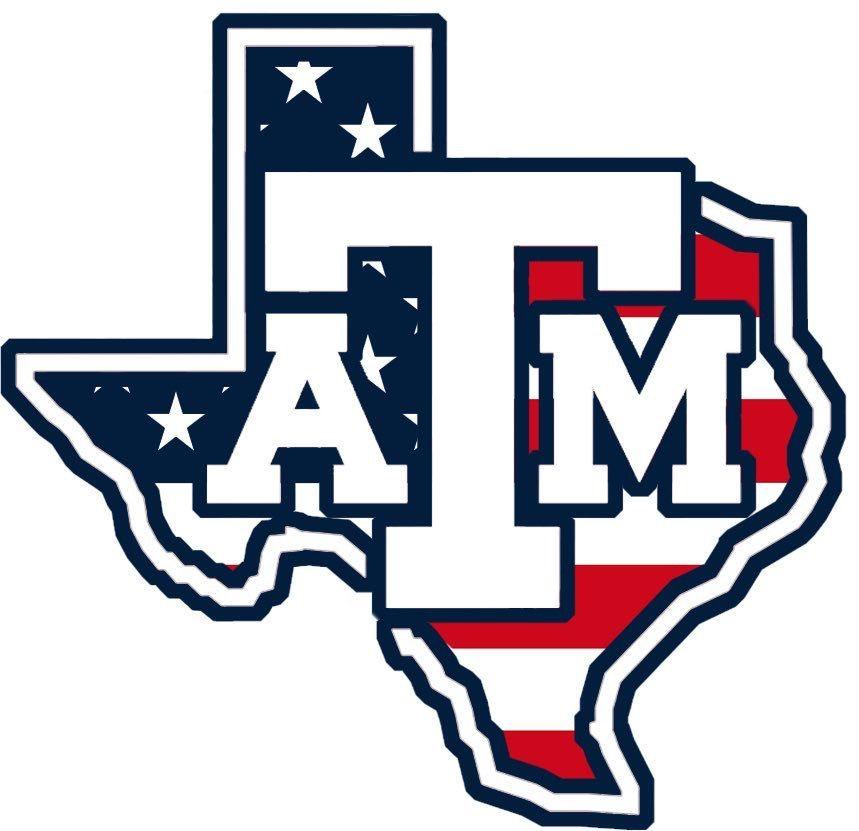 Texas A M Aggies American Usa Flag Logo Texas A M Logo Texas A M Logos