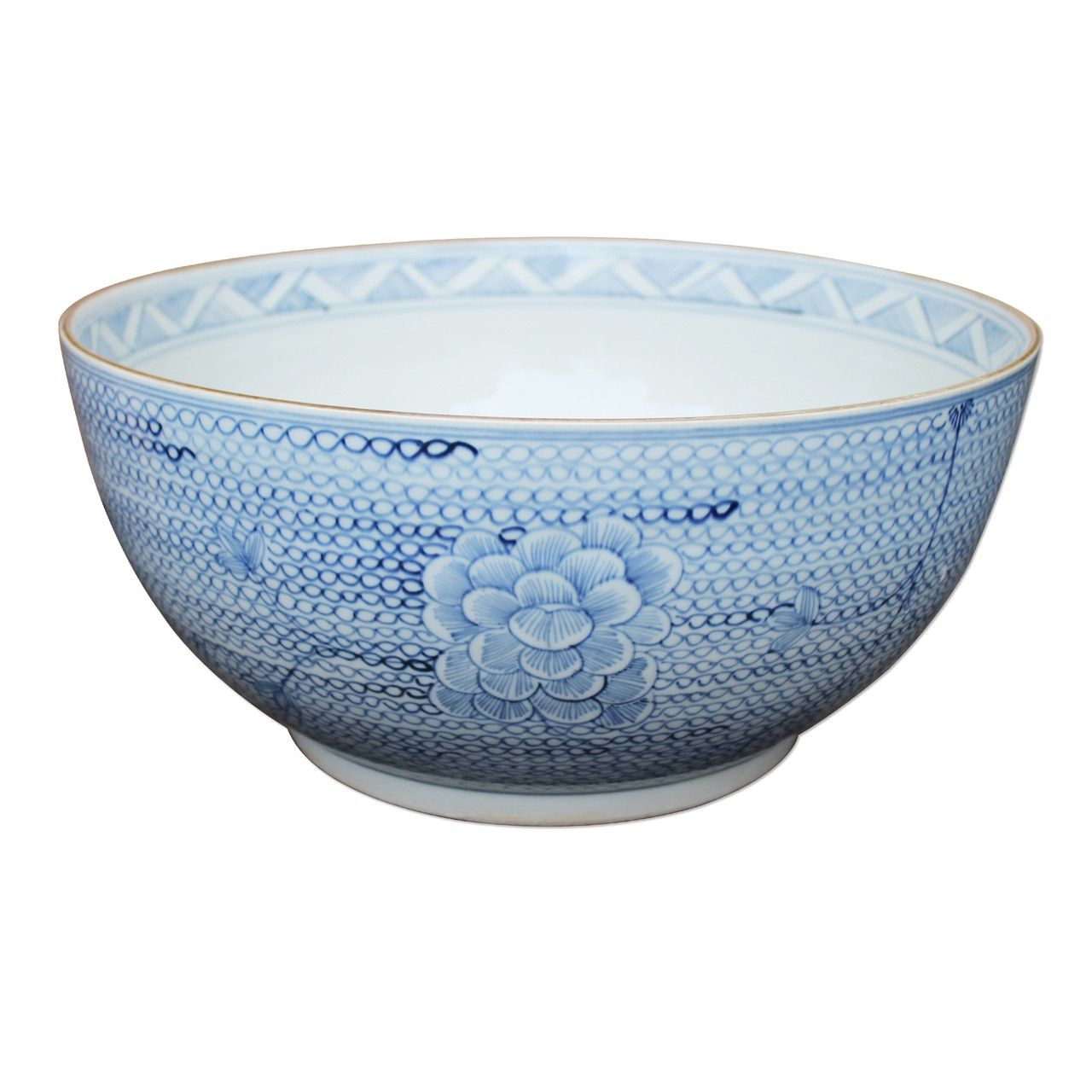 Blue Decorative Bowl Blue And White Decorative Bowl  Low Stock  Order Now  Low Stock