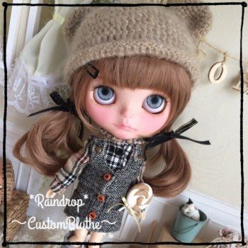 * Raindrop * Custom Blythe ~  Buy her here:   #blythe #blythedolls #kawaii #cute #rinkya #japan #collectibles #neoblythe #customblythe