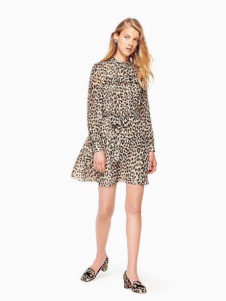 29b9c3cab192 leopard-print clipped dot mini dress by kate spade new york | Need ...