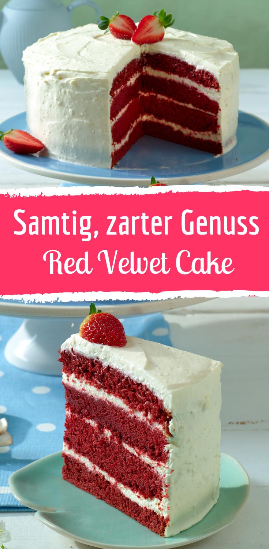 Verführerischer Red Velvet Cake mit zarter Creme  #halloweenmacarons
