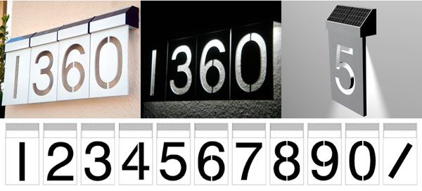 Solar Led Numbers From Matter Inc House Numbers Solar House