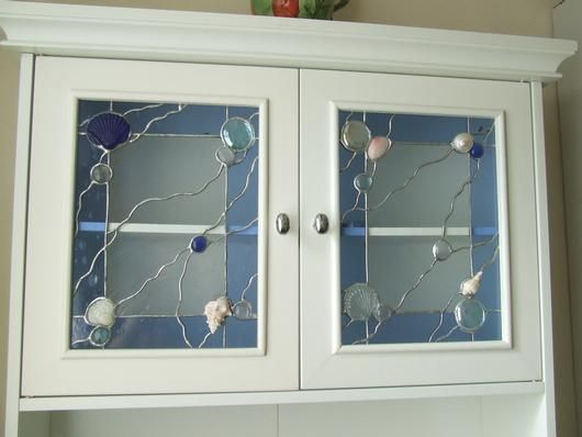 Beautiful Stained Glass Cabinet Doors Concept