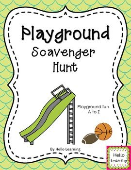 Playground Scavenger Hunt Back To School Activity Finding Creative Recess Activities From A