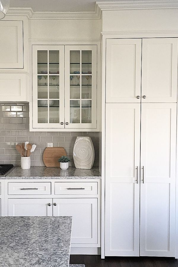 White Kitchen White Cabinets Inset Cabinets Benjamin