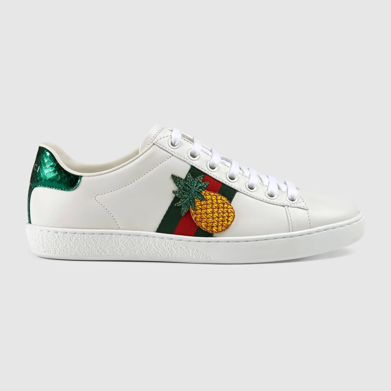 gucci ace embroidered sneaker pineapple 875 kourtney. Black Bedroom Furniture Sets. Home Design Ideas