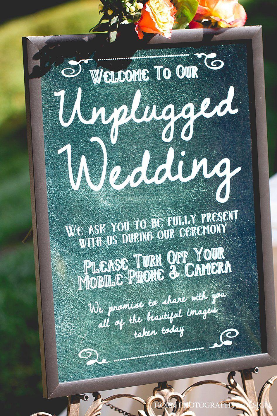 Unplugged Wedding sign Piedmont Park Wedding + Magnolia