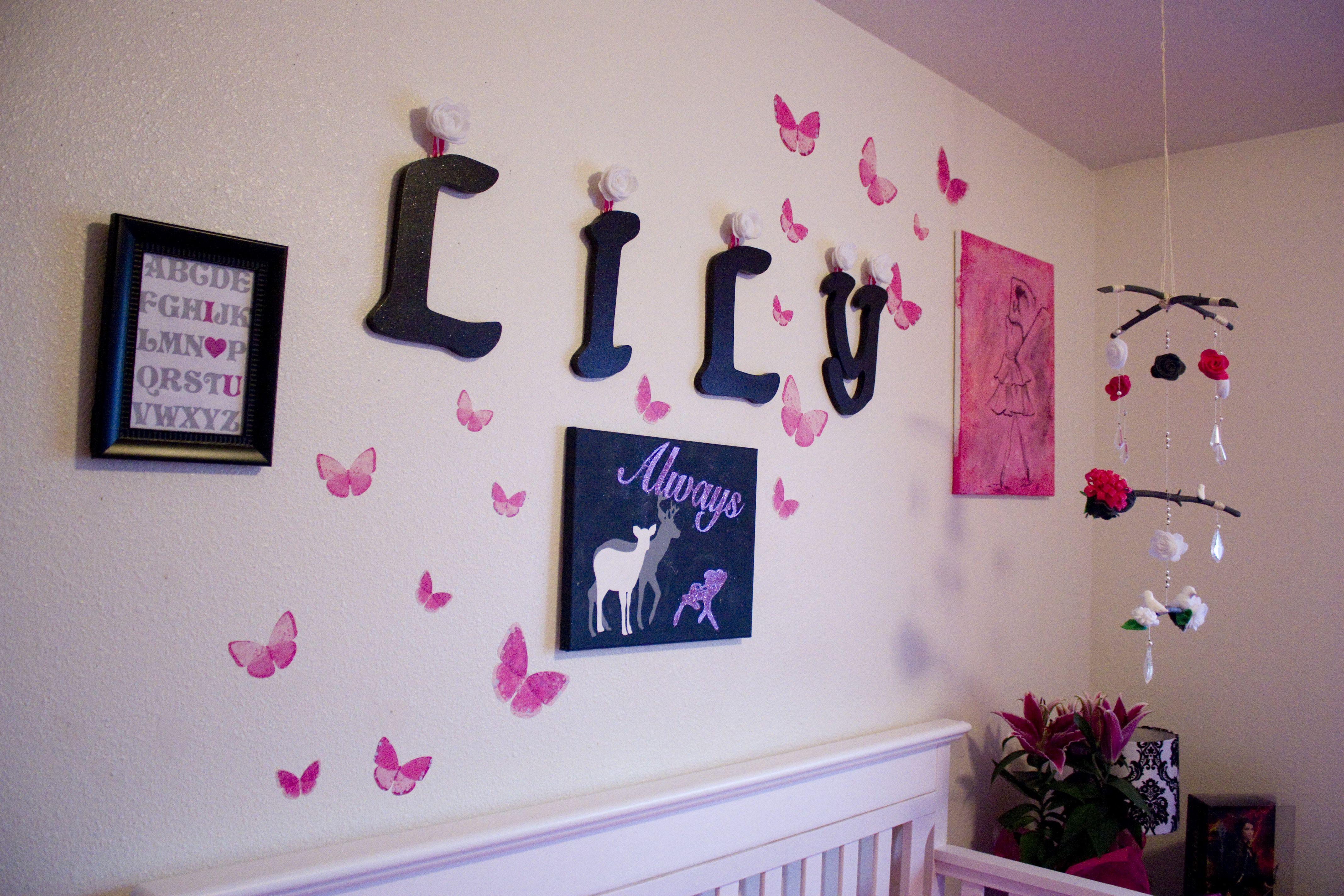 Nursery Wall I love the butterflies