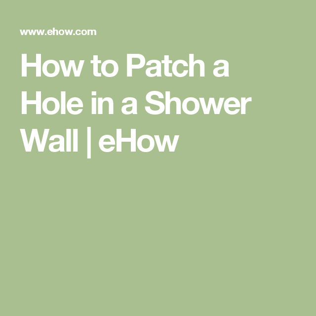 How To Patch A Hole In A Shower Wall Hunker Pallet Accent Wall Shower Wall Shadow Box