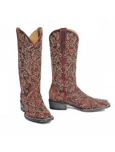Yippee-Ki-Yay-by-Old-Gringo-Womens-Lorraine-13-Cowboy-Boots-Red-YL154-2