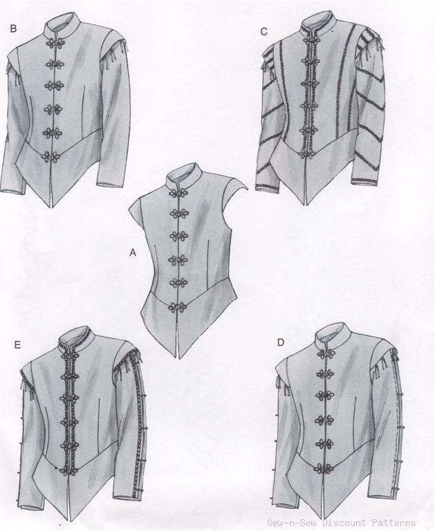 Renaissance Doublet Pattern