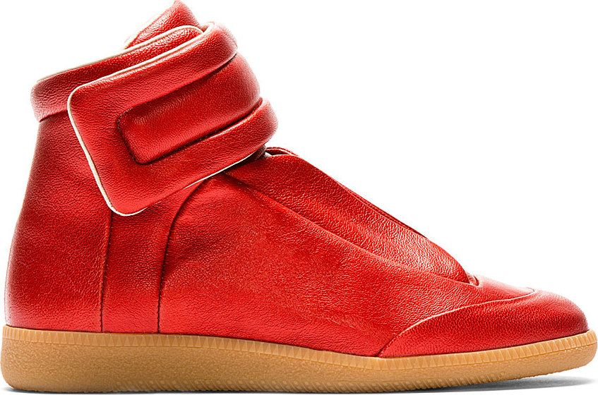 f9fa8479be Maison Martin Margiela: Red Future High-Top Sneakers | MEN'S STYLE ...