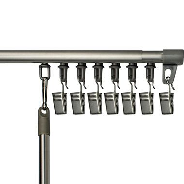 Bali Universal Track Curtain Rod 45 Removable Clips Hang Any