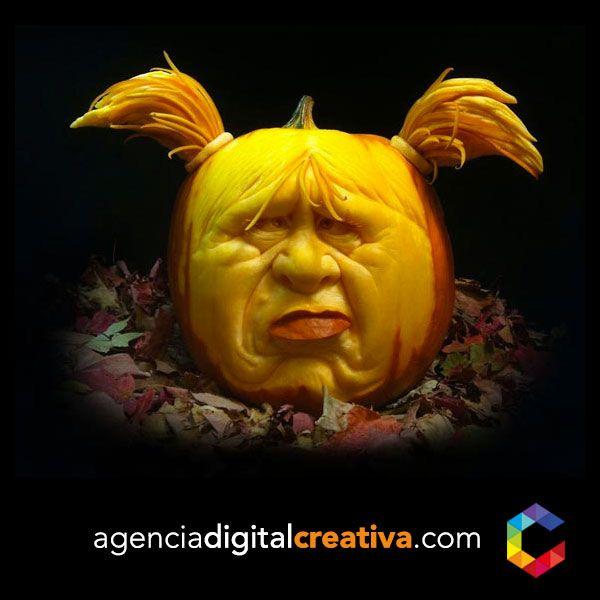 Increíbles Calabazas de Halloween #creativa #creativapanama #creativapty #halloween #panama www.agenciadigitalcreativa.com