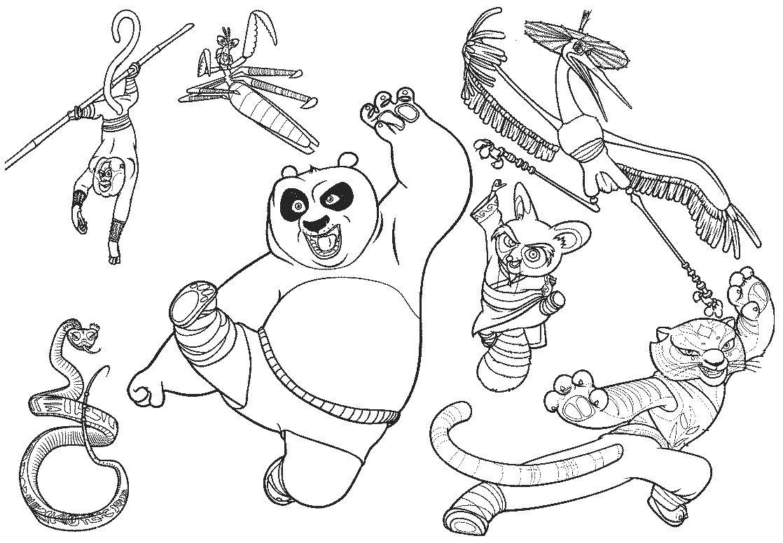 dibujos de kung fu panda para colorear | News to Gow | Pinterest ...