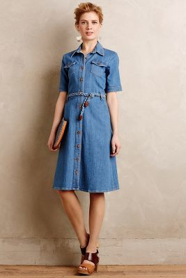 Anthropologie MiH Denim Shirtdress #anthrofave