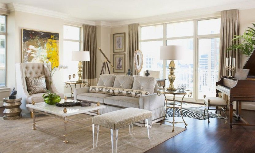 Classic Contemporary living room by Dallas Design Group