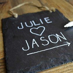Decorative Chalkboard Signs Slate Rectangle Chalkboard Sign Twine Hanger Blackboard  You