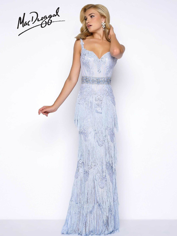 cc99c33c63c Mac Duggal Dress Gown Prom 2017 Price Guarantee Layaway 80716 Long Blue 2 4  6