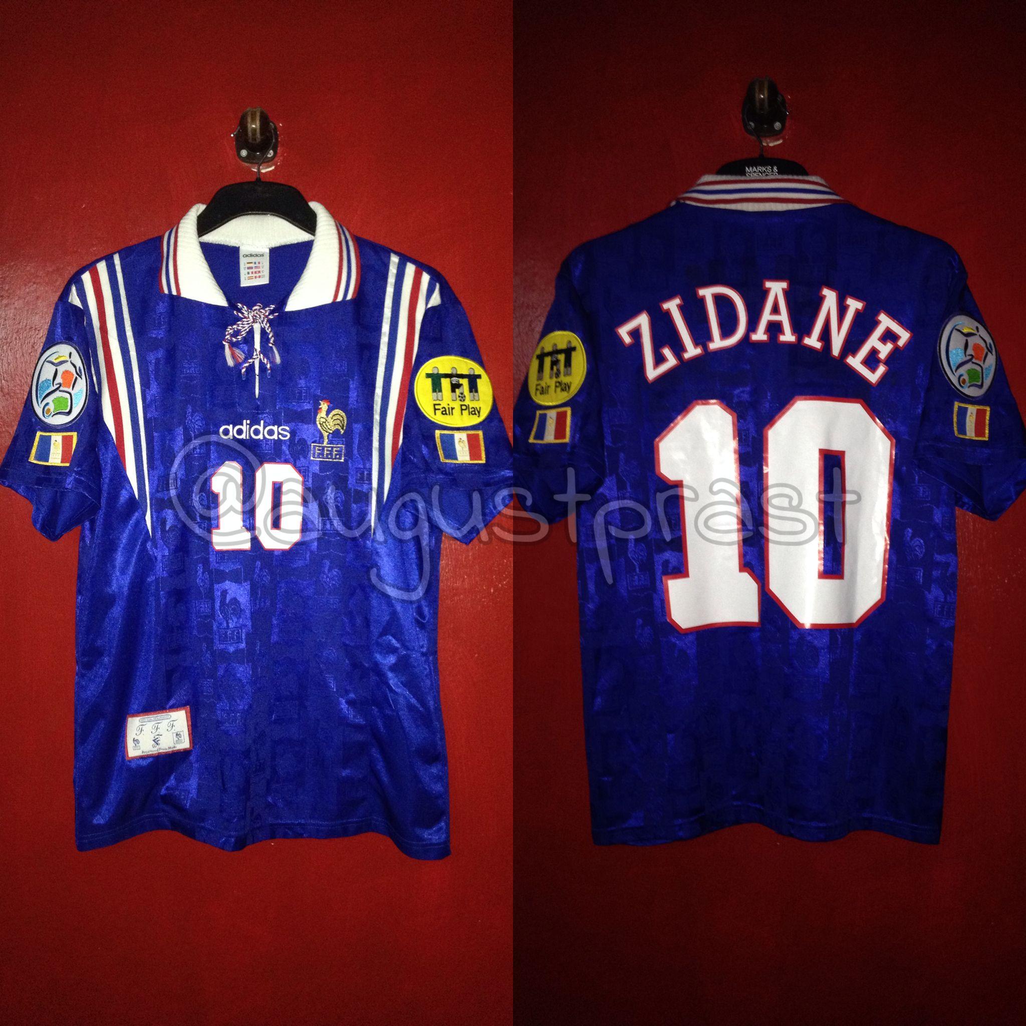 9905be1ba France 1996-1998 Home #10 Zidane | France Jersey | France jersey ...