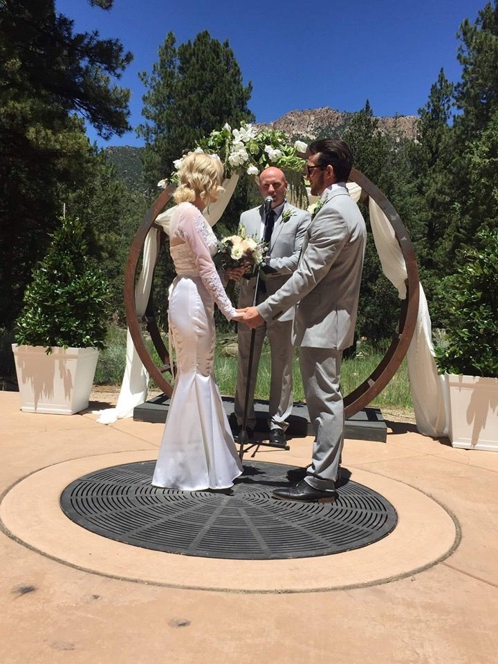 Wedding at pine valley amphitheater | Pine valley ...