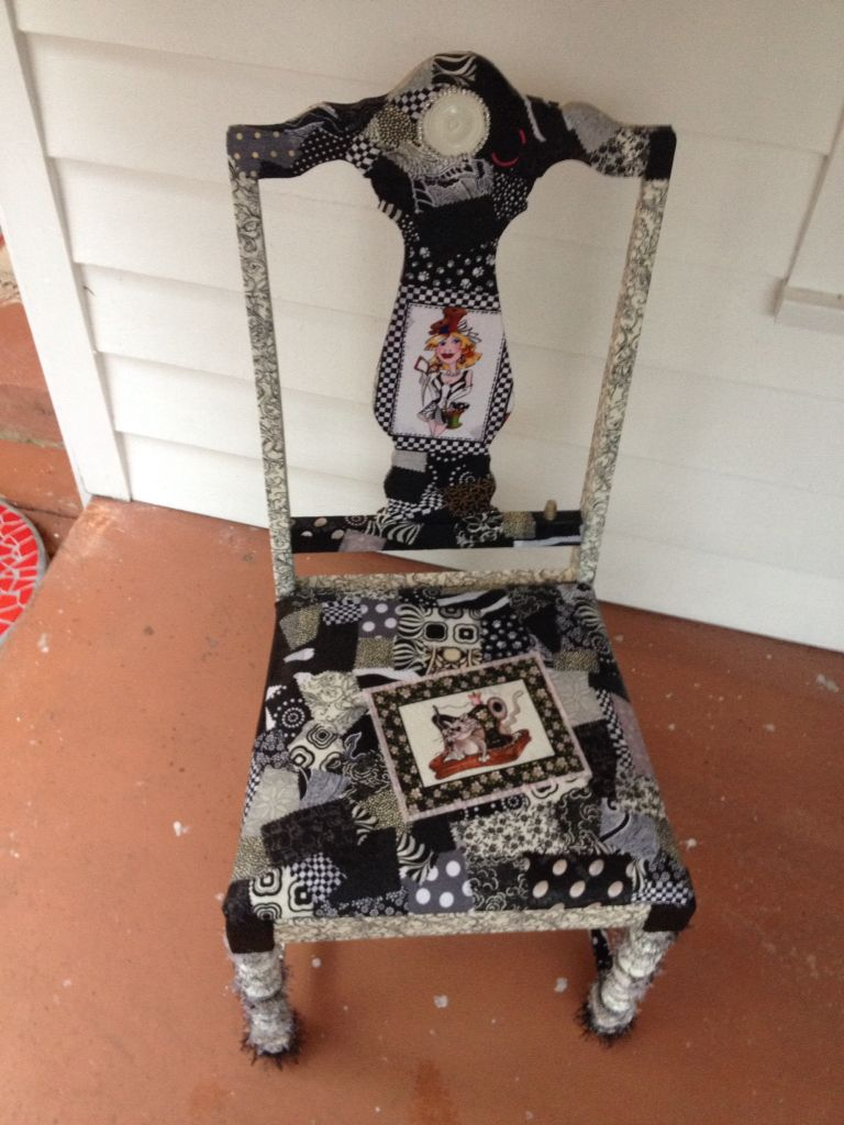 Fabric decoupage Sewing chair