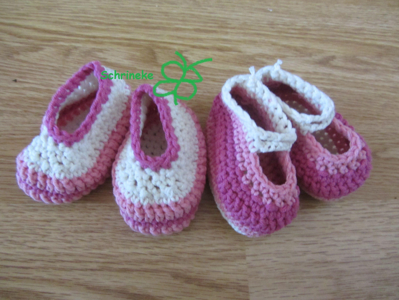 Babyslofjes en schoentjes gehaakt met scheepjeswol volgens eigen patroon ... http://haakpatronenvanschrineke.blogspot.com