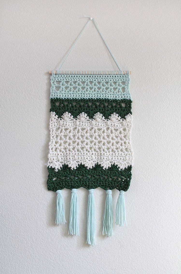 Crochet Wall Hanging Pattern | Tejidos | Pinterest | Croché, Tejidos ...