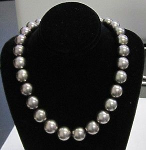 tiffany black pearls | Mikimoto 1893 Black Tahitian Pearl String Necklace 10mm 13mm | eBay