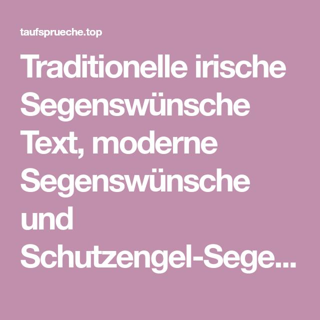 Traditionelle Irische Segenswünsche Text Moderne