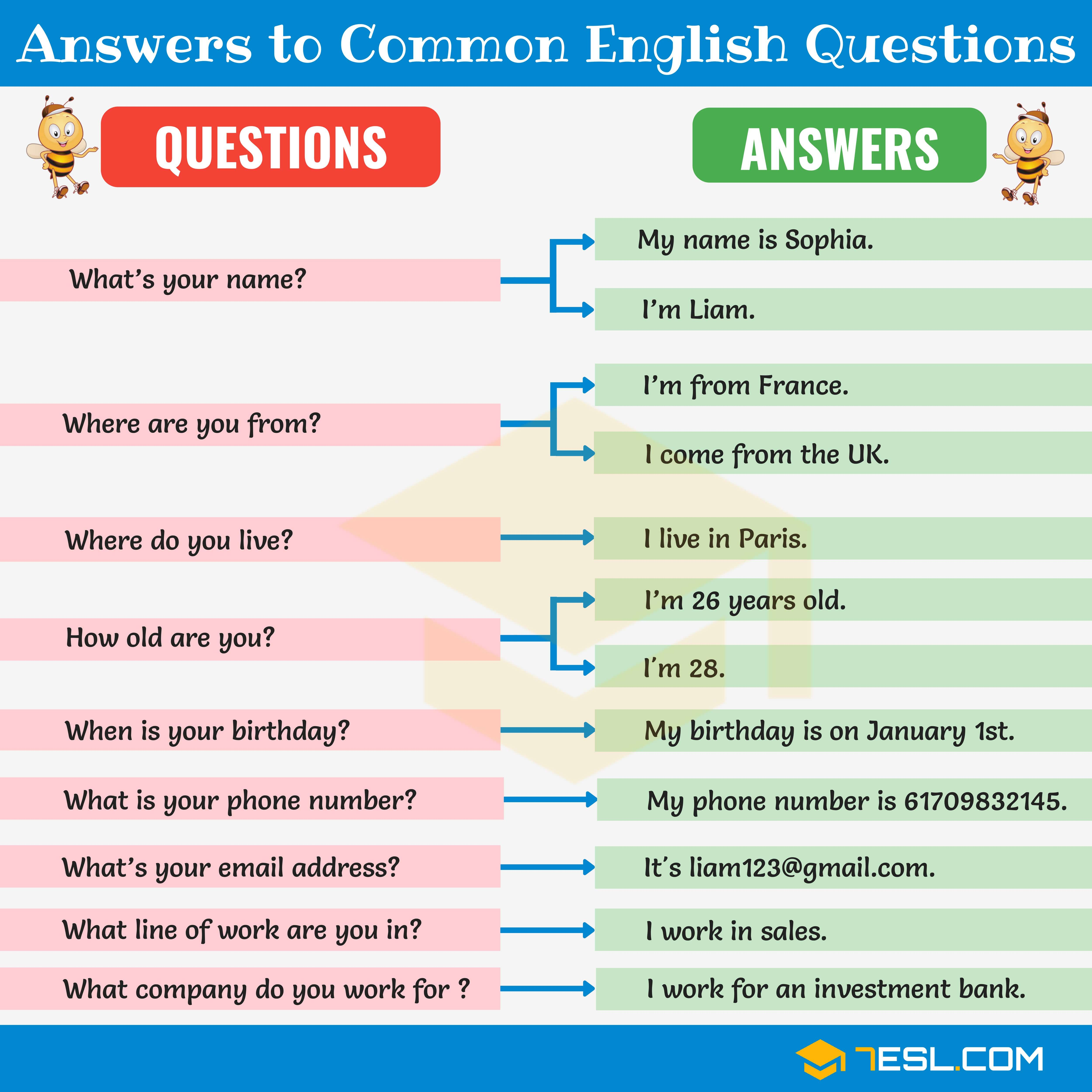 200 answers to common english questions learn english