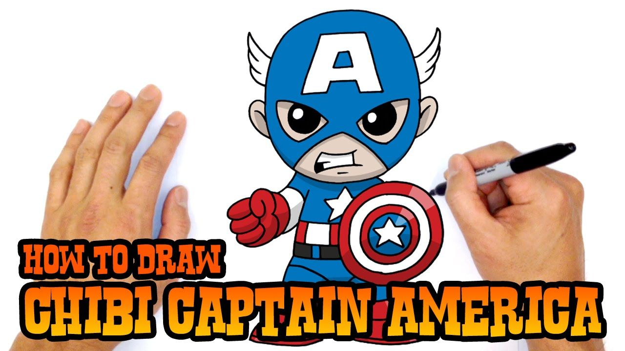 How To Draw Captain America Chibi Kids Art Lesson Avengers Drawings Drawing For Kids Art Lessons For Kids