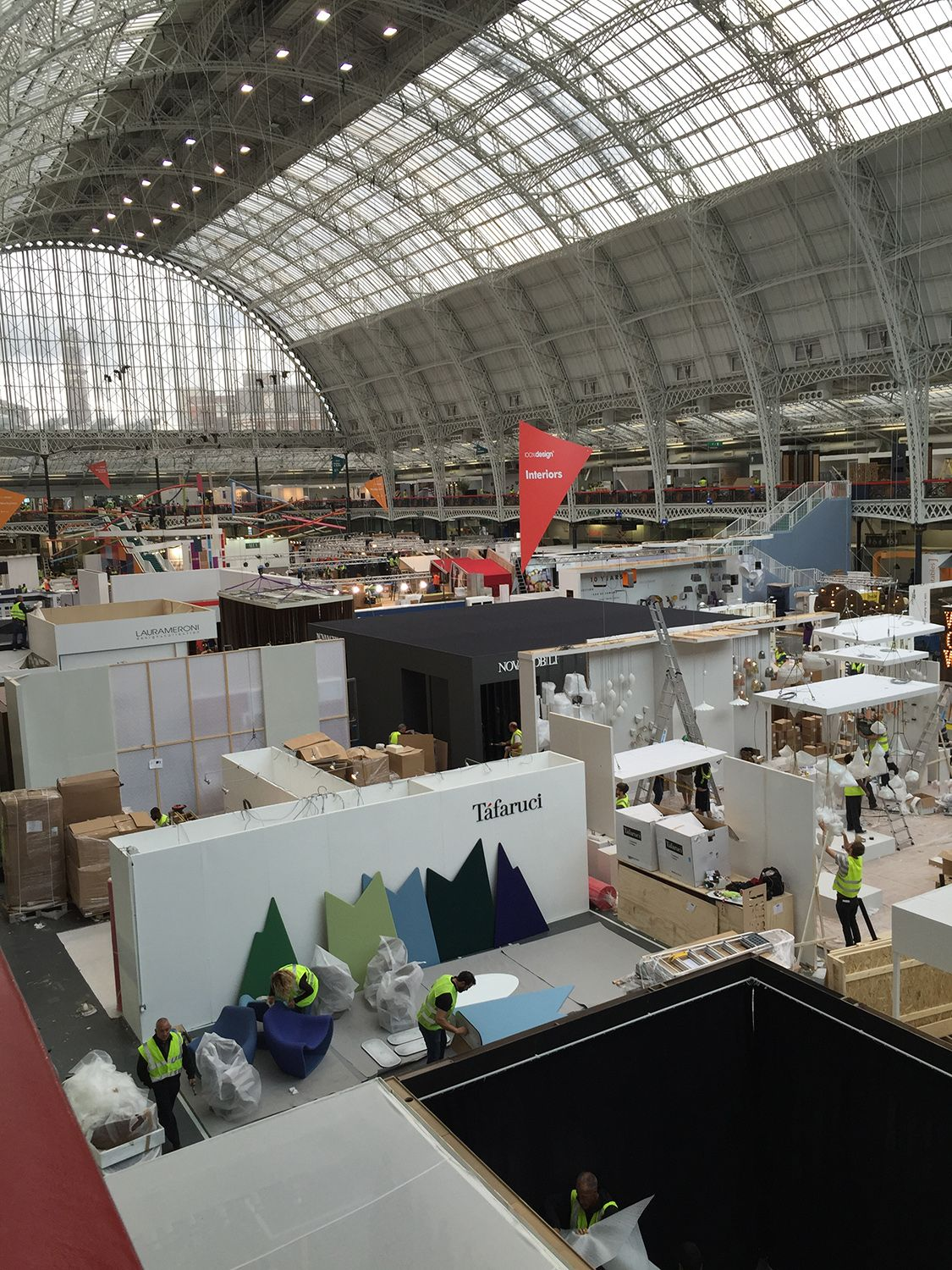 Pictures from setting up our booth at 100% Design in London. Come visit us at stand L222. ‪#‎100design‬ @designlondon