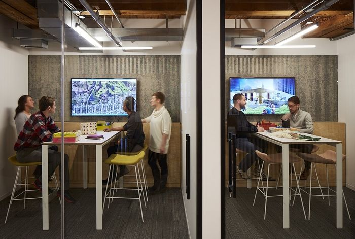 Office Tour Partners By Design Offices Chicago Office Refresh - Corner conference table