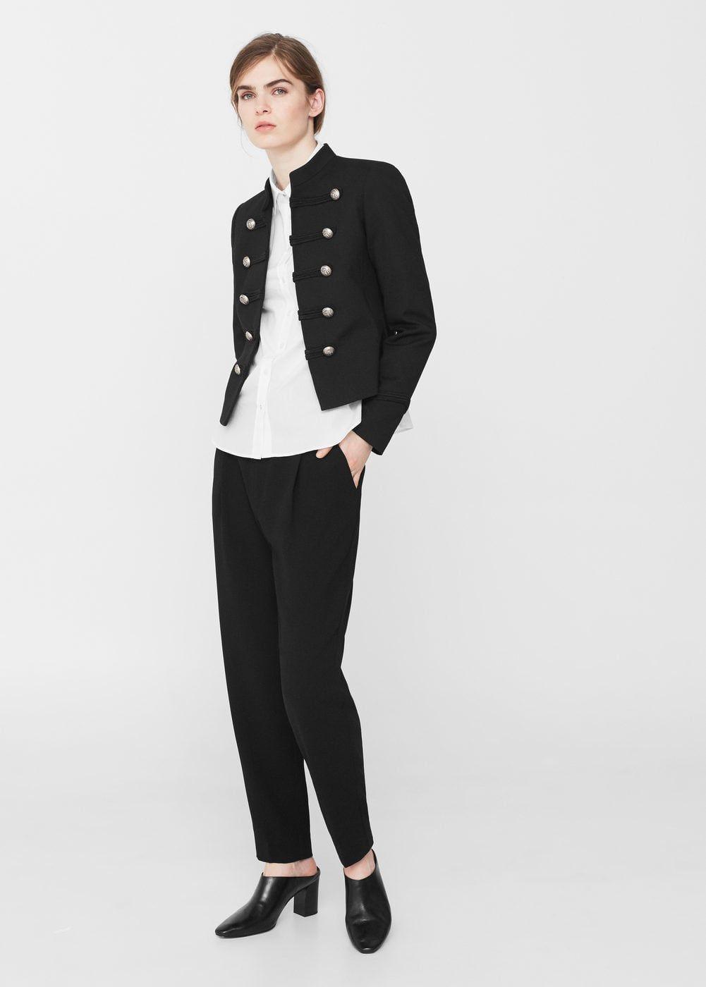 Military Style Jacket Woman Mango Finland Military Style Jackets Military Fashion Sport Chic Style [ 1400 x 1001 Pixel ]