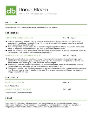 Modern-Personal Brand Resume Templates Pinterest