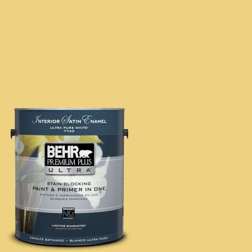 BEHR Premium Plus Ultra 1-gal. #380D-4 Feather Gold