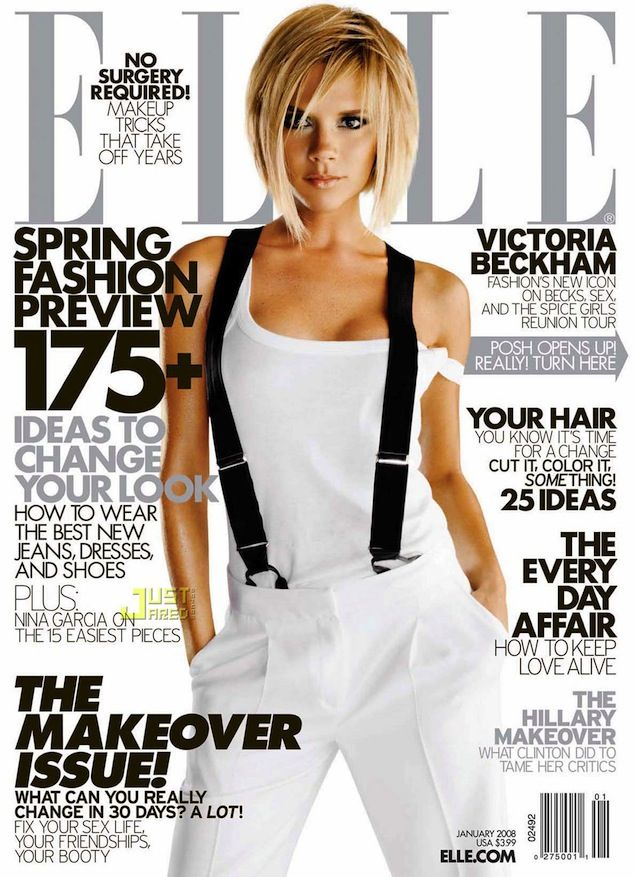 Victoria Beckham for Elle, January 2008.