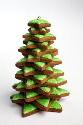 Christmas Gingerbread Tree and 25 other holiday cookie ideas