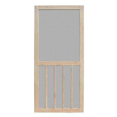 Aspen Unfinished Pine Outswing Wood Hinged Screen Door In 2020 Wooden Screen Door Unique House Design Screen Door