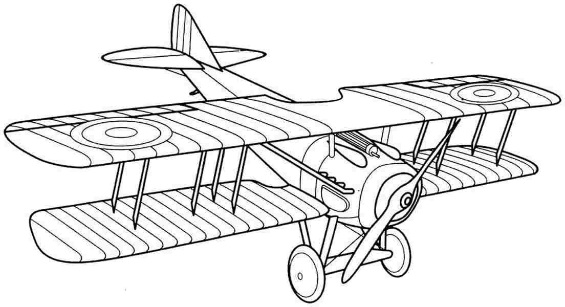 Biplane Coloring Page Printable Airplane Drawing Dad Memorial
