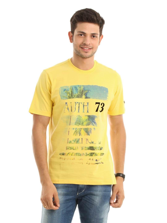 Design your t shirt myntra - Fila Men Yellow Printed T Shirt Myntra