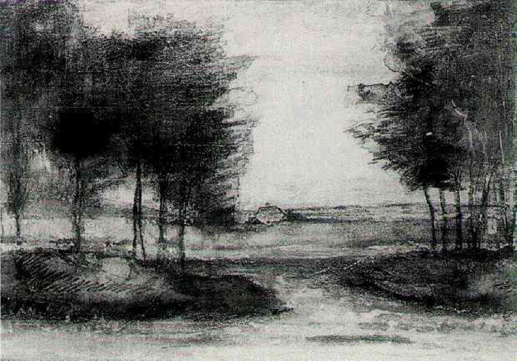 Landscape Van Gogh Vincent Van Gogh Landscapes Landscape Sketch Van Gogh Drawings