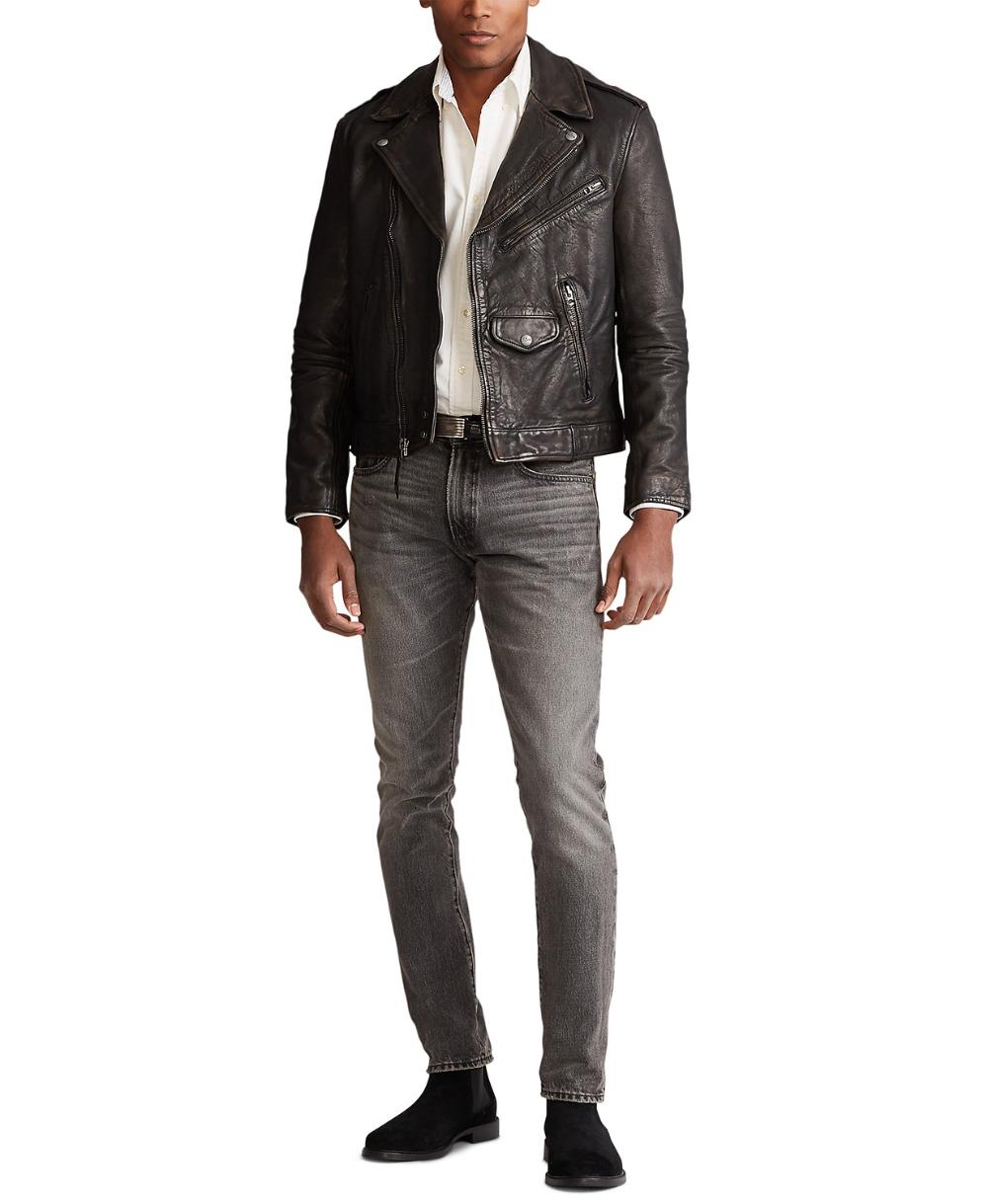 Polo Ralph Lauren Men's Leather Biker Jacket & Reviews