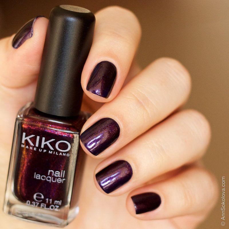 08 Kiko #497 Pearly Indian Violet nail laquer swatches | Esmalte ...