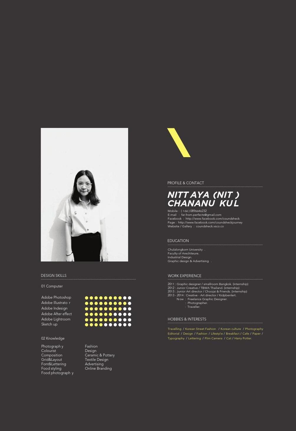 Nittaya S Portfolio For Ceci Portfolio Design Lookbook Layout
