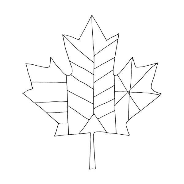 Canadian Maple Leaf Colouring Page By Donald Lee
