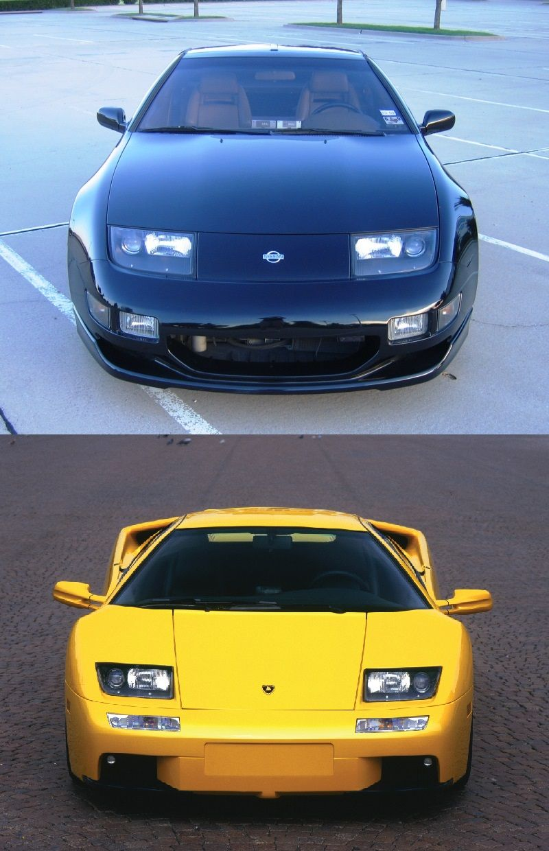 Nissan 300zx And Lamborghini Diablo I Think They Both Look Good
